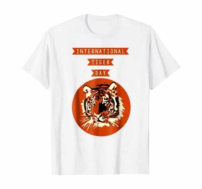 Uluslararası kaplan günü'ne özel tişört
